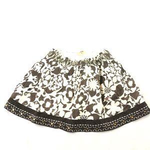 Hollister Women's Flare Black white Skirt M